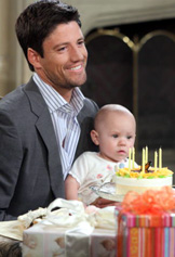 James Scott with baby