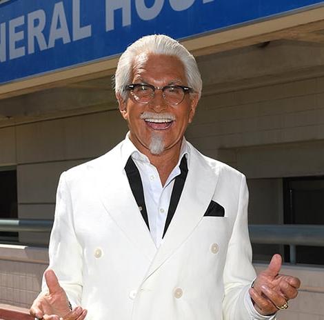 Gh Friday Colonel Sanders Aka George Hamilton Comes To Port Charles Michael Fairman Tv