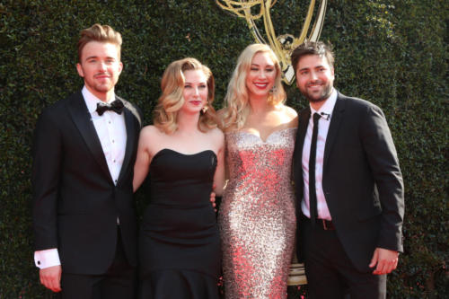 DAYS Chandler Massey (Will) and Freddie Smith (Sonny) and their gals hit the carpet!