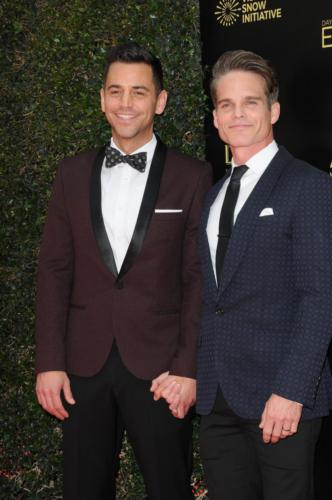 Real life husbands, Emmy nominee, Greg Rikaart and Robert Sudduth.