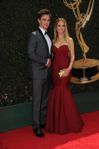 One good-looking couple indeed; B&B's Darin Brooks and Y&R's Kelly Kruger.