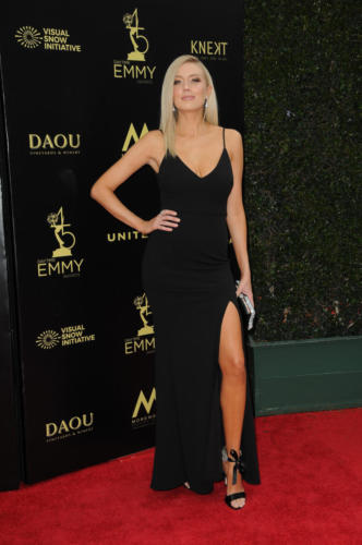 Y&R's Melissa Ordway was a red carpet knock-out in this dress.