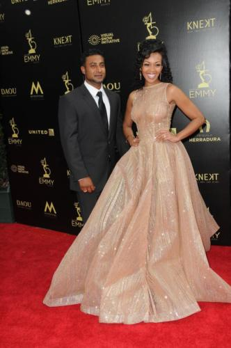 Y&R's Mishael Morgan and husband, Navid Ali rock the red carpet.