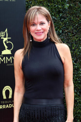The amazing Nancy Lee Grahn (Alexis) of GH,  a two-time Emmy winner takes to the carpet.
