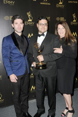 Gregori J. Martin, Wendy Riche & Kristos Andrews  strike a pose as The Bay takes Digital Drama Series