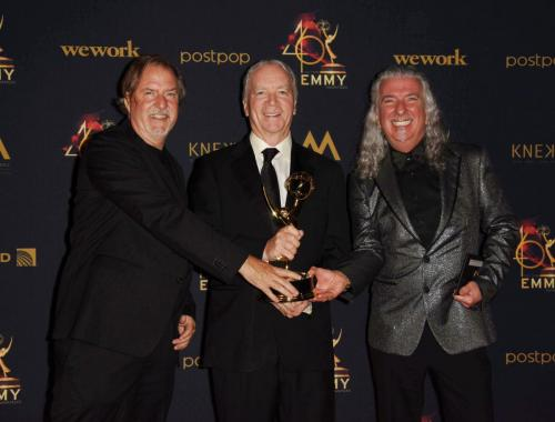 DAYS Ken Corday with D. Brent Nelson and Paul Antonelli take home the gold for Music Composition in a Drama Series.