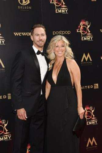 GH nominee, Laura Wright with her beau, GH's Wes Ramsey.