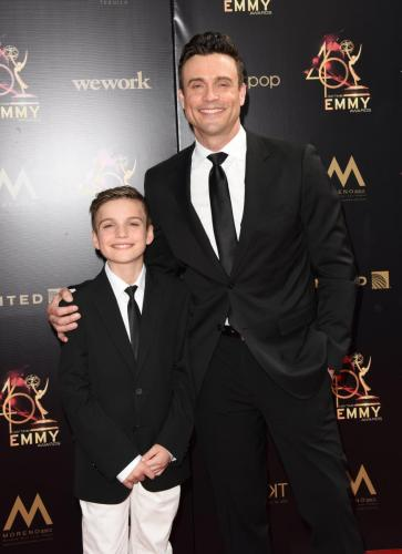 Y&R's Daniel Goddard and his son, Sebastian.