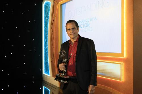 GH's Maurice Benard backstage after his 3rd Lead Actor Emmy in his career.