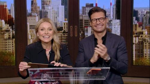 Kelly Ripa and Ryan Seacrest presented Lead Actress in a Drama Series to Jacqueline MacInnes Wood, virtually.