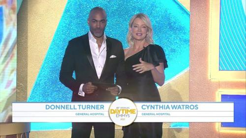 General Hospital presenters: Donnell Turner (Curtis) and Cynthia Watros (Nina).