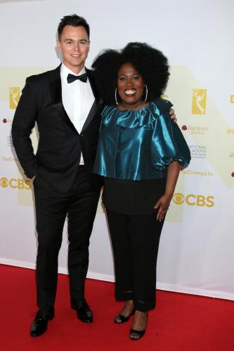 B&B Supporting Actor nominee, Darin Brooks along with Emmy host,  Sheryl Underwood.