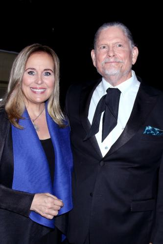 Emmy nominees and on-screen siblings Genie Francis (Laura) and Jeff Kober (Cyrus) of General Hospital.