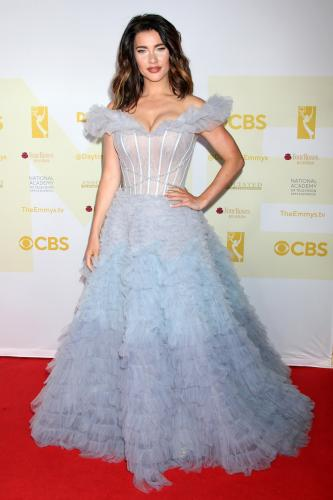 B&B's Lead Actress nominee, Jacqueline MacInnes Wood wows again on the carpet. (Steffy).