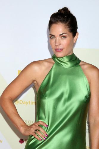GH's Kelly Thiebaud (Britt) a vision in green.