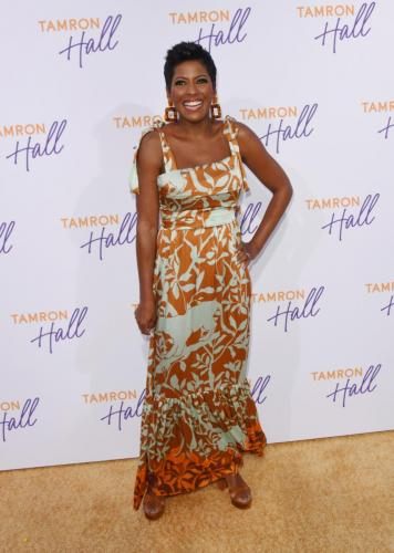Tamron Hall debuted her new daytime talk show to the press.