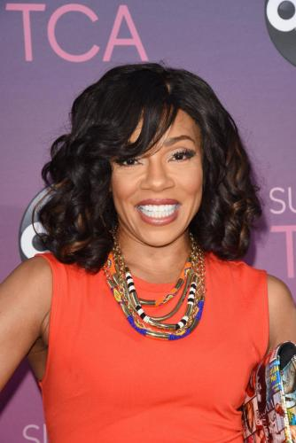 Mrs. P! Grand Hotel's Wendy Raquel Robinson makes her appearance at the All-Star Party.