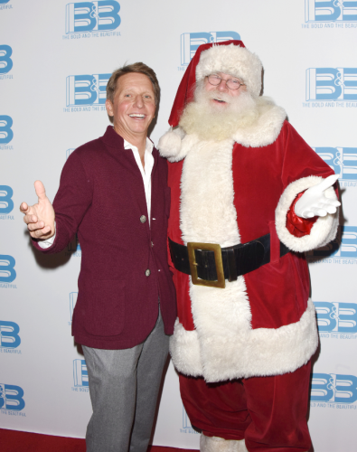 Two head honchos: Brad Bell and Santa Clause!