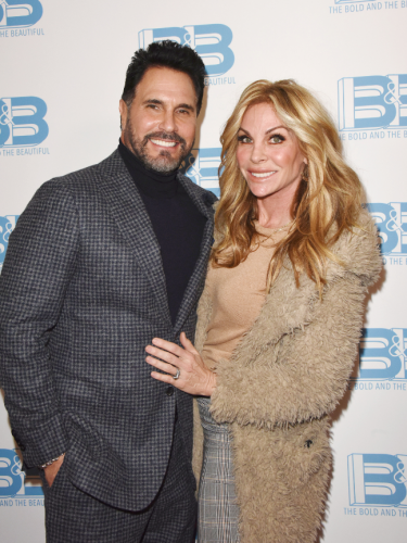 Dollar Bill!  Don Diamont and his wife Cindy.