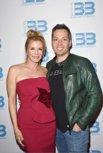 Katherine Kelly Lang with her beau, Dom Zoida.