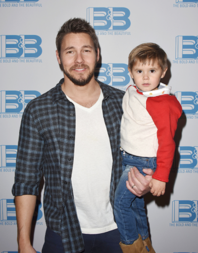 Scott Clifton brought his son, Ford to the festivities.