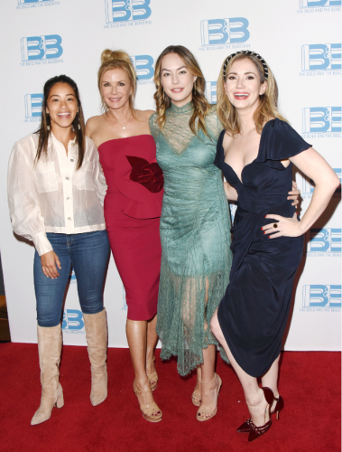 Gina along with Katherine Kelly Lang, Annika Noelle, and Ashley Jones.