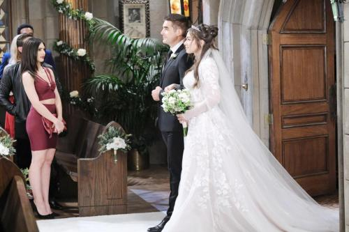 Rafe walks the bride down the aisle.
