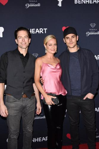 Shadams! Former Adam of Y&R, Michael Muhney, with Sharon Case and the New Adam, Mark Grossman.