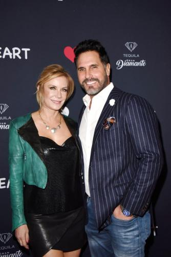 Don Diamont strikes a pose with his B&B co-star, Katherine Kelly Lang.