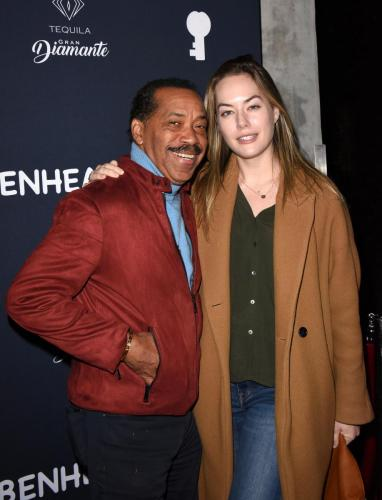 Obba Babatunde strikes a pose with the current Hope, Annika Noelle.