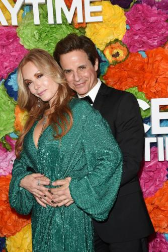 Y&R's Christian LeBlanc with his on-screen wife, Tracey E. Bregman.