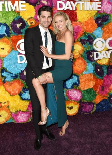 Y&R's Melissa Ordway with hubby and ex-DAYS star,J ustin Gatson.
