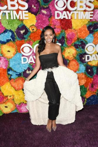 Former Y&R star and an Emmy nominee, Mishael Morgan strikes a pose.