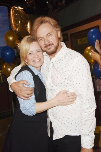 Stephen Nichols and Mary Beth Evans celebrate!