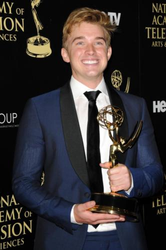 Chandler Massey (Will, DAYS) wins the first of his three Emmys!