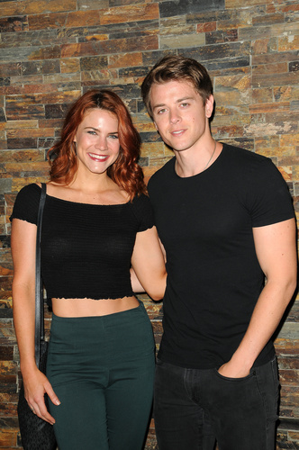 Chad Duell (Michael) and his girlfriend, B&B's Courtney Hope enjoyed the day.