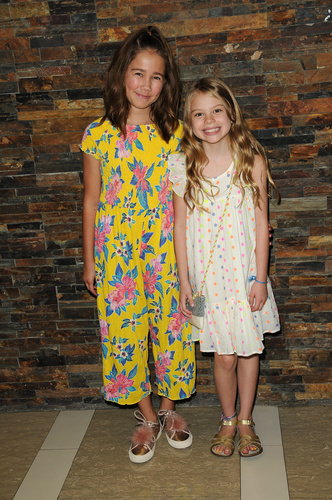 Brooklyn Rae Silzer (Emma) and her friend, Scarlett Hernandez (Charlotte).