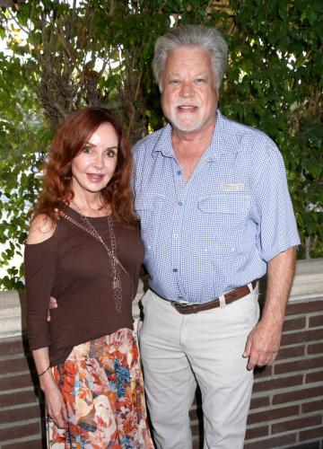 Reunited! Jackie Zeman and Brad Maule at their fan gathering,