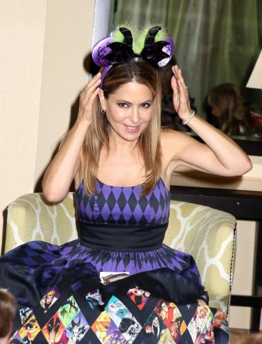 Lisa LoCicero donned a hat at her fan event.