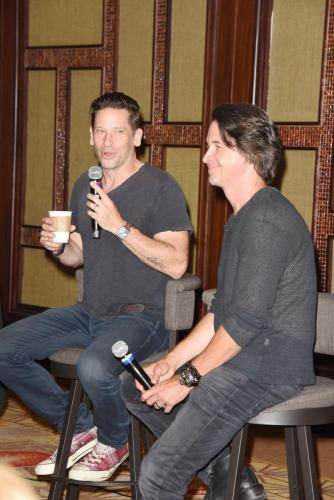 Roger Howarth and Michael Easton had every one in stitches at their event.
