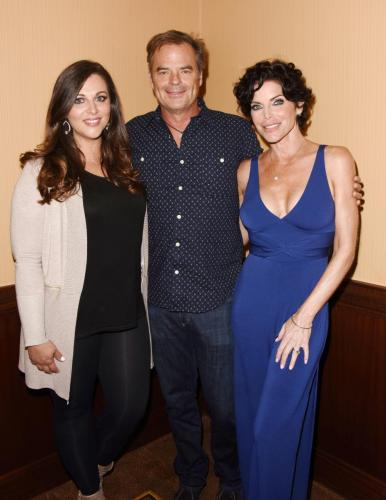 BINGO night with the Quartermaines: featured the return of Lesli Kay and Adrianne Leon, here with Wally Kurth.