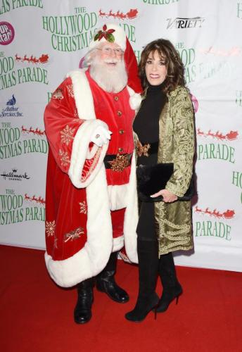 Y&R's Kate Linder strikes a pose with the man himself, Santa Claus.