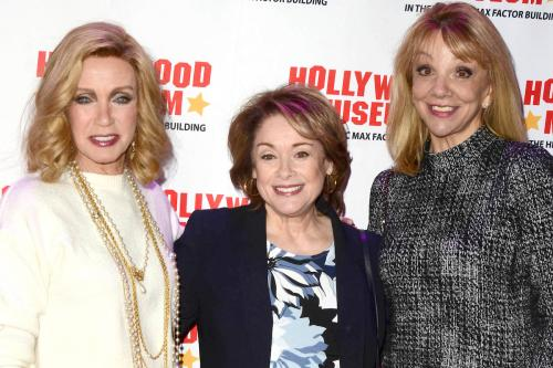 """Donna Mills, along with former """"Angie"""" and """"All My Children"""" star Donna Pescow, along with Teresa Ganzel."""