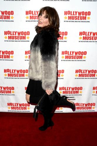 Y&R's Kate Linder (Esther) showed up for the Hollywood Museum lobby exhibit opening for 'Knots' too.