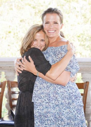 Hugs all around from  dear friend and former AMC castmate, Rebecca Budig.