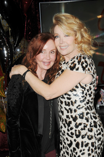 And Bobbie from GH showed up too! Jackie Zeman shares this milestone with her friend, Melody.