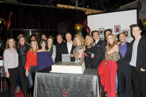 Y&R cast in attendance surrounding Melody with love and admiration.