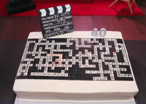 Melody designed this cake herself using this crosswords theme! Special shout-out to Hansen's bakery for making it come to life.