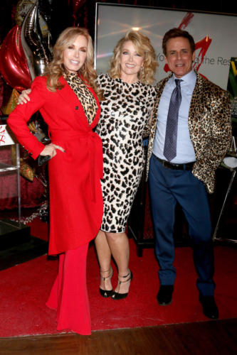 Looks like leopard print was the order of the day, right, Tracey E. Bregman, Melody and Christian LeBlanc?