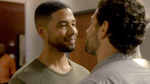 Jamal Lyon (Jussie Smollett, in scene with Rafael de La Fuente) has struggled with his father's acceptance, but is determined to live life his way.